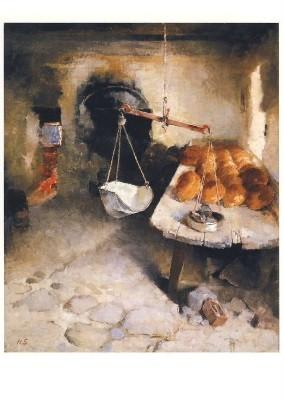 Helene Schjerfbeck. Die Bäckerei, 1887. KK