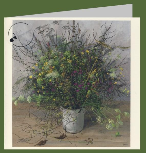 Creyghton, P. Wildblumenstrauß, 1974. 15x15-DK
