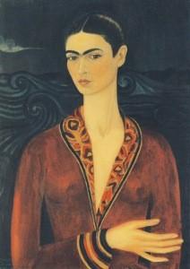 Frida Kahlo. Selbstporträt mit Samtkleid, 1926
