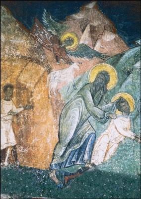 Abraham opfert seinen Sohn. KK