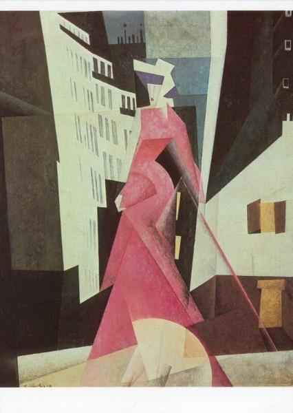 Lyonel Feininger. Die Dame in Mauve, 1922. KK
