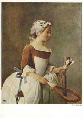 J.-B. Simeon Chardin. Mädchen mit Federball. KK