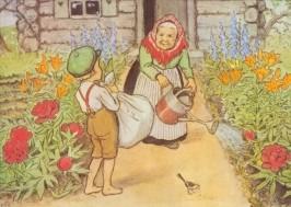 Beskow, E. Großmutter im Garten. KK