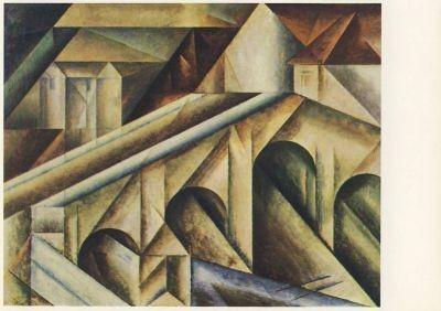 Lyonel Feininger. Brücke III, 1917. KK