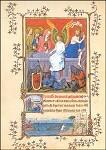 Auferstehung Christi. Turin Mailänder Stundenbuch 14. Jh. KK