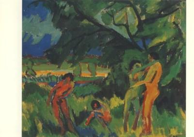 Ernst Ludwig Kirchner. Spielende nackte Menschen