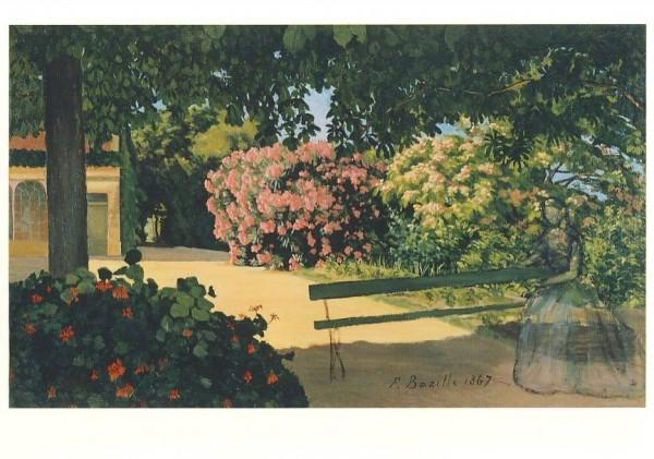 Frederic Bazille. Die Oeleander (Terrasse in Méric) 1867.KK
