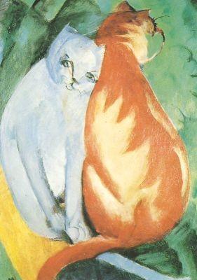 Franz Marc. Katzen rot und weiß, 1912. KK