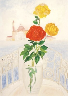 Wassili Lepanto. Die Rose - Blick vom Markusplatz auf San G.