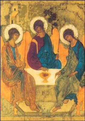 Rubljew, Andrej. Dreifaltigkeit, 1411. KK