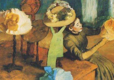 Edgar Degas. Bei der Putzmacherin. KK