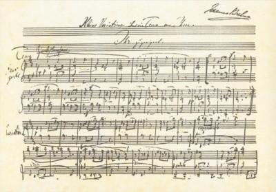 Brahms, Johannes. Kleine Variation über ein Thema. KK