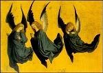 Meister des Hausbuchs. Drei schwebende Engel. KK