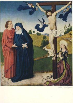 Meister des Marienlebens. Christus am Kreuzmit Maria