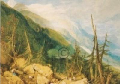 Joseph Mallord William Turner. Das Tal von Chamonix. KK
