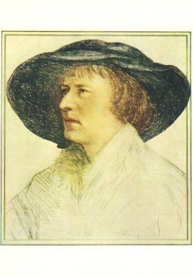 Holbein, H. Der Mann mit dem Schlapphut. KK
