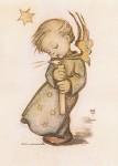 Hummel, M.I. Engel mit Kerze, aus dem Hummelbuch. KK