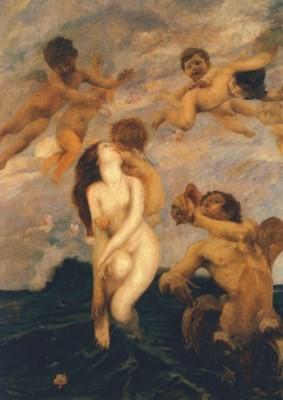 Ettore Tito. Geburt der Venus, 1900