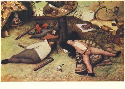 Bruegel, P. Das Schlaraffenland, 1567