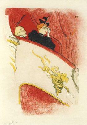 Henri de Toulouse-Lautrec. Die Loge im Mascaron Doré, 1894