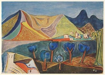 Gilles, W. Landschaft, 1947