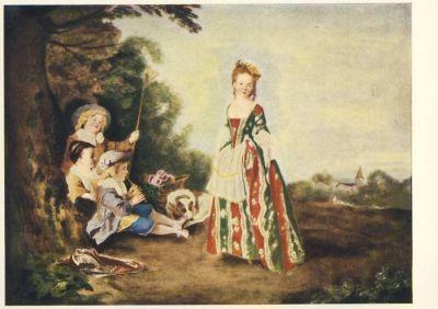 Watteau, A. Tanz im Freien. KK