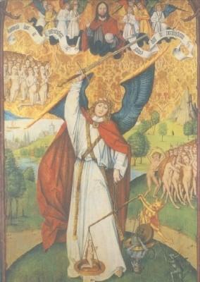 Meister von Olillet. Erzengel Michael, der Seelenwäger. KK