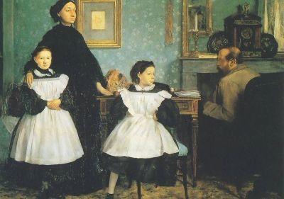 Edgar Degas. Die Familie Bellelli