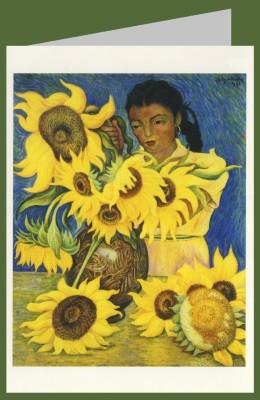 Diego Rivera. Mädchen mit Sonnenblumen, 1941