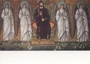 Ravenna. Der Erlöser, Mosaik um 520. KK