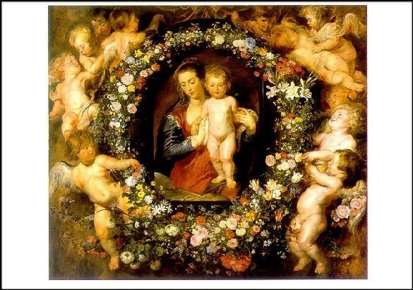 Peter-Paul Rubens. Die Madonna im Blumenkranz, 1616/17. KK,