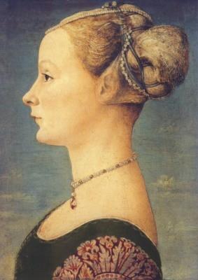 Pollaiuolo, Antonio del. Profilbildnis einer jungen Frau