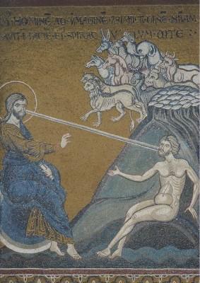 Erschaffung der Tiere und des Menschen 7. Mosaik. KK
