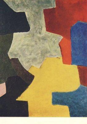 Poliakoff, S. Komposition in Blau, Gelb, Rot und Braun. KK