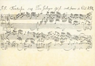 """Bach, Johann-S. Fantasia super """"Komm heiliger Geist"""". KK"""