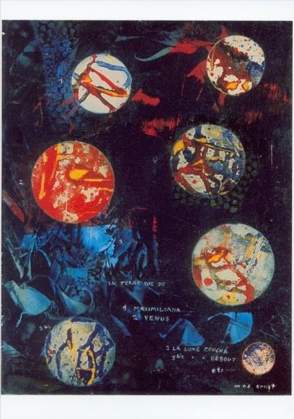 Max Ernst. Die Erde von der Maximiliana aus gesehen,1963.KK