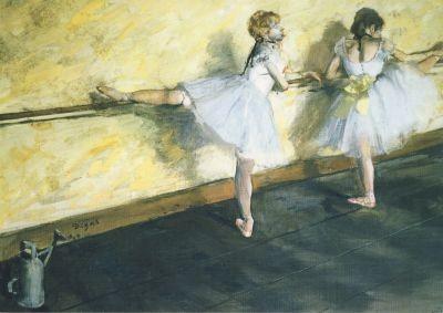 Edgar Degas, Tänzerinnen an der Ballettstange, 1877