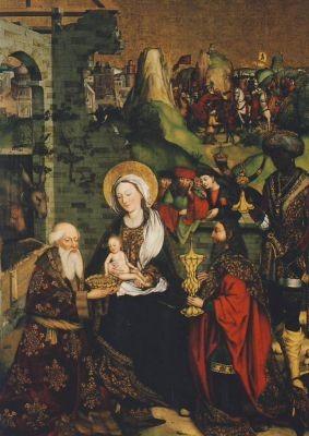 Zeitblom, B. Anbetung der Heiligen drei Könige, 1496. KK