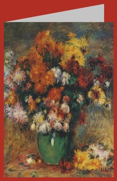 Piere-Auguste Renoir. Vase mit Chrysanthemen