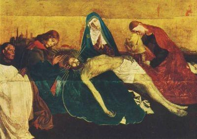 Schule von Avignon. Pieta, Um 1475