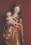 Madonna mit Kind, Allgäu um 1470. KK