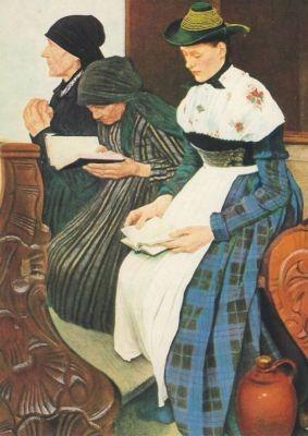 Wilhelm Leibl. Drei Frauen in der Kirche