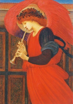 Edward Burne-Jones. Flageolett spielender Engel