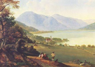 Johann-Georg Dillis. Der Tegernsee, 1825