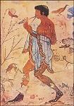 Etruskisch. Tanzender Flötenspieler, 480 v. Chr. KK