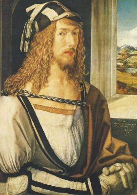 Albrecht Dürer. Selbstbildnis, 1498