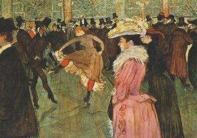 Henri de Toulouse-Lautrec. Im Moulin Rouge: Der Tanz, 1890
