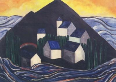 Heemskerck, Jacoba van. Insel, Komposition 21, 1914
