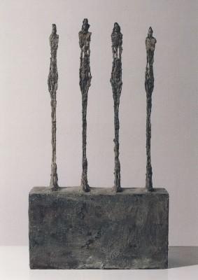 Giacometti, Alberto. Vier Frauen auf einem Sockel. KK