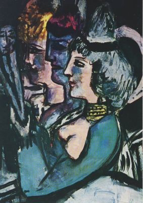 Max Beckmann. Drei Tänzerinnen, 1942. KK